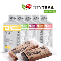 CityTrail On Tour starter kit 5x ALE Energy Gels + 2x ALE Energy Bars