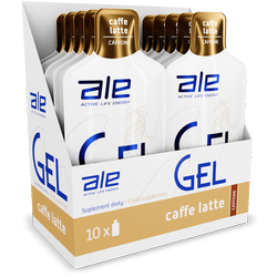 Display ALE Energy Gel Caffeine Caffe Latte