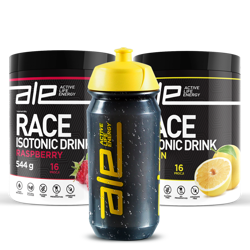 Get 2 ALE Race isotonic carbohydrate drinks and get ALE Bottle, 500 ml FREE