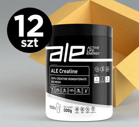 ALE Creatine Monohydrate 500 g  (set of 12)