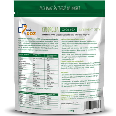 Chlorella, 100 g powder