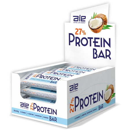 ALE 27% PROTEIN BAR DISPLAY 16 szt