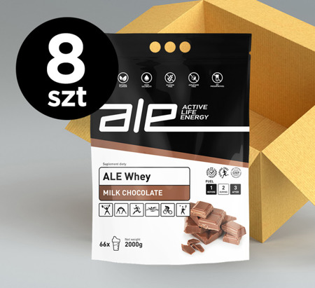 ALE Whey Milk Chocolate 2kg KARTON 8 szt.
