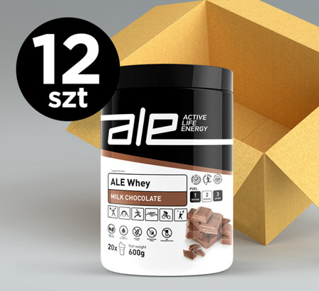 ALE Whey Milk Chocolate 600g KARTON 12 szt.